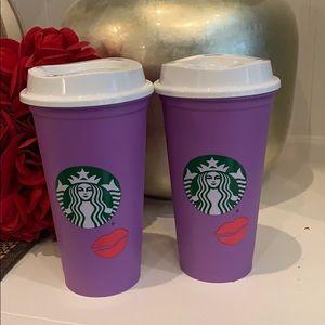 Starbucks hot colour change lips new x 2